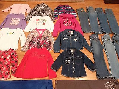 Girls Clothing Size 5/6 6 Slim 23 pc Lot Shirts Pants Jeans Jackets EXCELLENT!!!