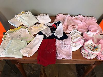 Lot of Vintage Baby Girl Clothes, 1970s sizes 2-3, outfits, tops, bottoms