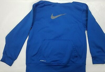 Boys Blue Therma Fit Nike Hoodie Size Large L