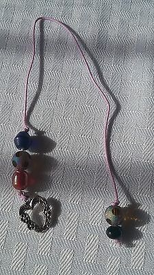 Handmade Beaded With Charm Thong Bookmark #949 100% To Animal Outreach Society