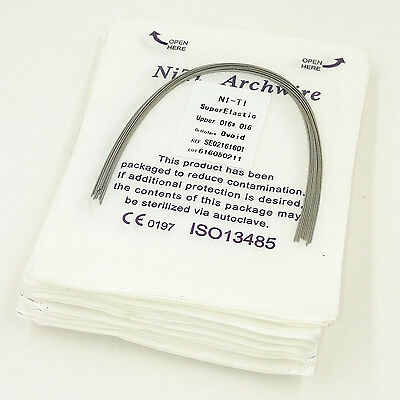 10 Pks Dental Orthodontic Super Elastic Niti Arch Wire Rectangular Ovoid form
