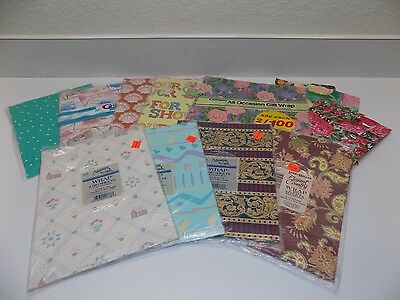 Vintage Gift Wrapping Paper Lot Sealed Packages Multi-Occasion Made in USA