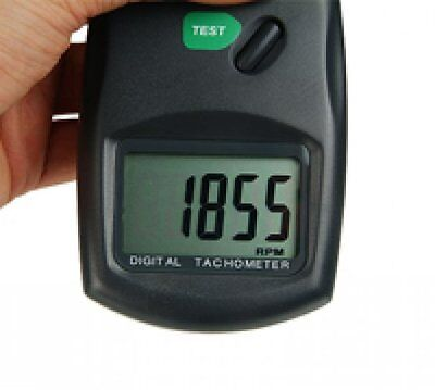 Digital Laser Photo Non Contact Contactless Tachometer RPM Test Lathe Machine