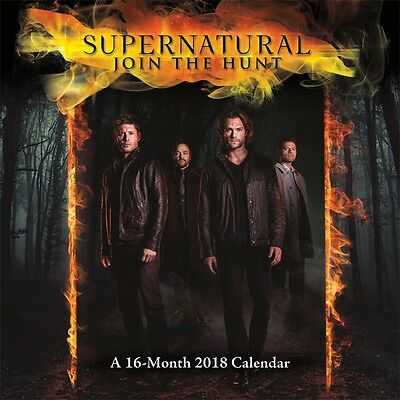 Supernatural - Tv Show - 2018 Wall Calendar - Brand New - 885053