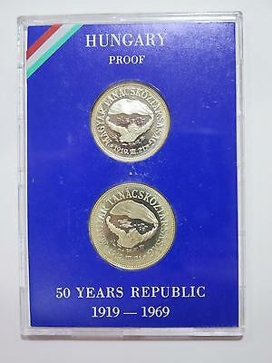 Hungary 1969 100 50 Forint 50 Year Republic Proof Set Silver Coin Collection Lot