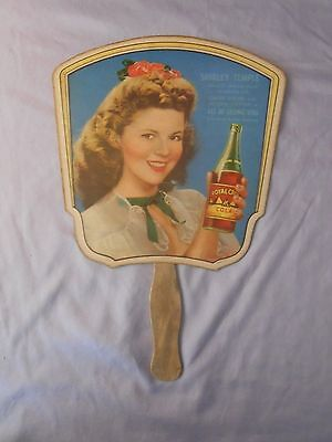 Shirley Temple Royal Crown Cola Rc Advertising Fan