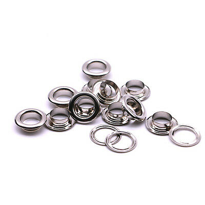 Wholesale 100-500pcs Metal Eyelets Size 5mm with Washers in Silver Gold for Leat