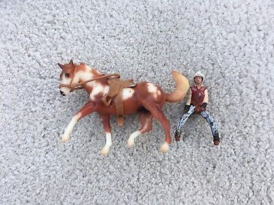 Breyer Horse Stablemate #10306 Hidalgo Buffalo Bill Play Set Appaloosa G2 Rider