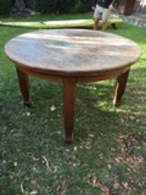 ANTIQUE VINTAGE ENGLISH OAK dining table extendable table furniture