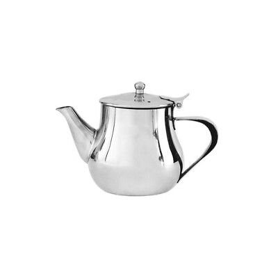 6x Teapot 700mL Stainless Steel 'Argentina' Flip Lid Tea Pot Coffee Pourer Cafe