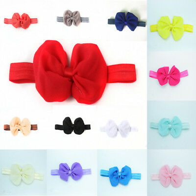 Cute Baby-Toddler Girls Bowknot Chiffon Headband Headwear Hair Wrap Accessories