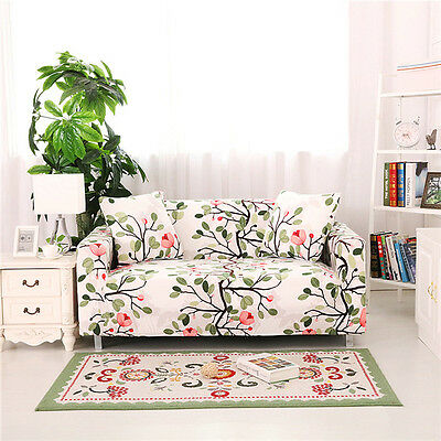 Spandex Slipcovers Sofa Cover Protector for 1 2 3 4 seater TauL Floral my