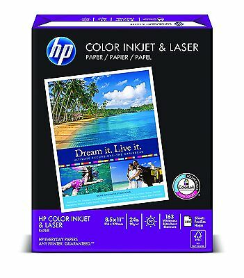 HP Paper, Color Inkjet & Laser Poly Wrap, 24 lbs, 8.5 x11, Letter,  97 Bright, 4