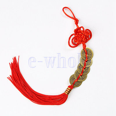 Feng Shui Chinese Coins Coin for good Luck PROSPERITY PROTECTION Charm Tassel HE