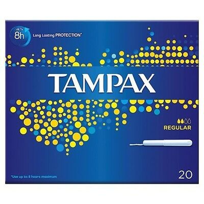Tampax Regular Tampon For Light To Medium Flow 20 Tampons Absorption Channels