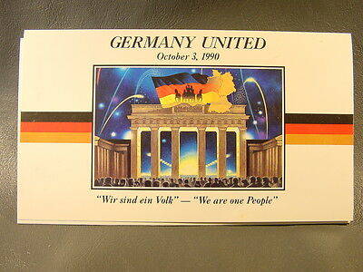 """Germany United $5 Commemorative Coin 1990 Marshall Islands """"We Are One People"""""""
