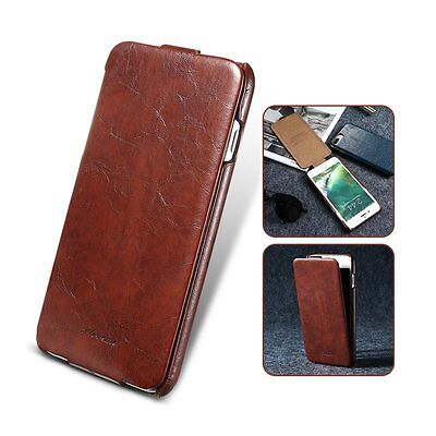 Vertical Flip PU Leather Case Fashion Cover for Samsung iPhone 7 6 Plus 5s