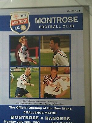 montrose v rangers 26 july 93 open new stand challenge match