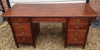 ~Lovely Antique 20th Century Arts & Crafts Style Mahogany Office Desk~