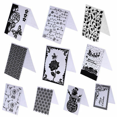 DIY Plastic Embossing Folder Template Scrapbook Paper Craft Christmas Decro
