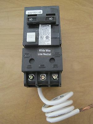 Siemans 60A 2-Pole Gfci Circuit Breaker Qpf260