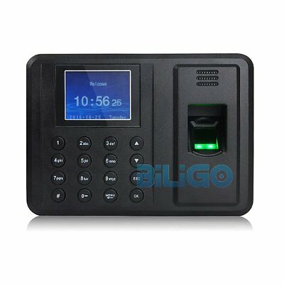 New Fingerprint Attendance Machine Time Clock Employee Check-in Reader【AU】