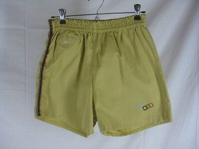 Vtg 40s 50s Yellow Campus Mens Vintage Olympics Shorts Bathing Suit
