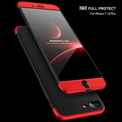 360° Full Body Hybrid Case Cover+Tempered Glass For iPhone 11 Pro XS Max XR 7 8+