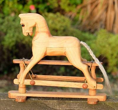 Old Working  Miniature Wooden Rocking Horse Ideal For Old Teddy To Sit On