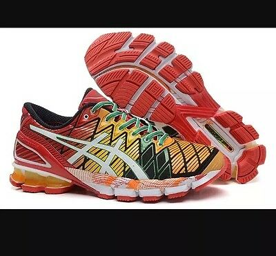 Men's Asics gel kinsei 5 Size 10 multicolor black white red nimbus running