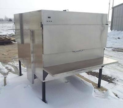 Insulated Stainless Steel BBQ Gas Pit Rotisserie Smoker (Compared To Ole Hickory