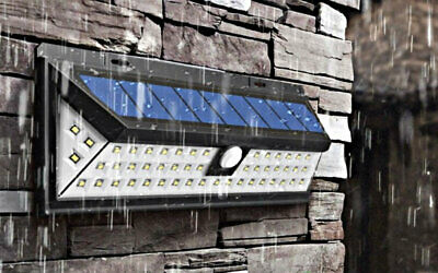 Outdoor Wireless Solar Powered Motion Sensor LED Light Outside Security Bright