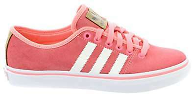 Adidas Womens Adria Lo Low Top Lace Up, Pink/White, Size 10.0