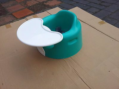 Bumbo Floor Seat with Play Tray - Aqua. Soft and lightweight