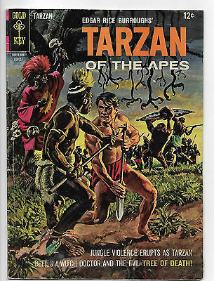 Tarzan #151 Gold Key 1965 VG+ 4.5  painted cover.