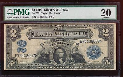 AC Fr 253 1899 $2 Silver Certificate PMG 20 comment AGRICULTURAL NOTE