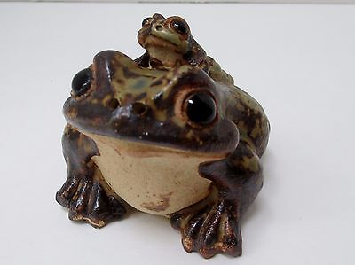 Vintage Made In Japan Mother Toad  Carrying  Baby Figurine #2
