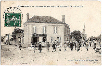 St VALÉRIEN (89) - Intersection des routes de Chéroy et de Montacher