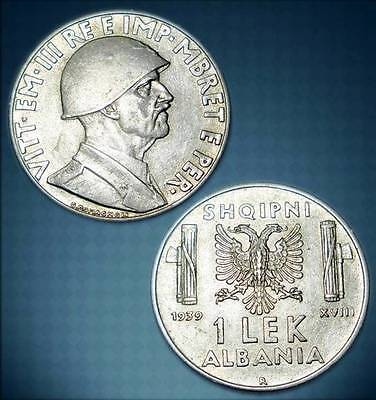 Albania 1939 Coin - 1 Lek Magnetic - Italy Occupation - 10