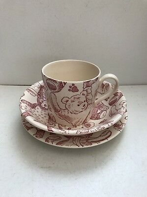 Spode Teddy Plate, Cup & Bowl Set