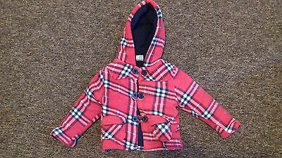 girls childrens coat size 18 - 24 months very good condition warm winter coat