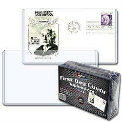 1 pack of 25 BCW Brand First Day Cover Topload Holder