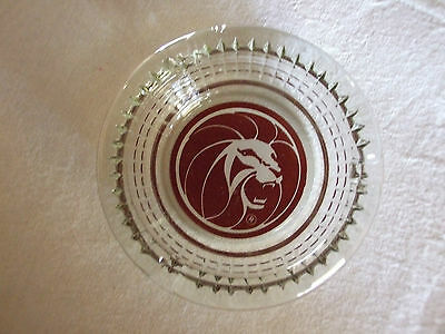 Mgm Classic Clear Glass Ashtray Las Vegas Baby !!!!!!!!!!