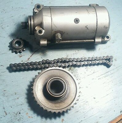 78 1979 Honda CM185T Twinstar Starter Starting Motor TESTED GOOD w/ Sprockets