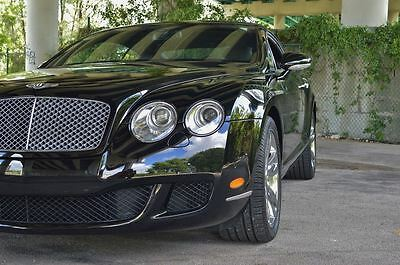 2009 Bentley Continental GT 2 Door Coupe 1 Owner - 18K Miles - AWD v12 Twin Turbo - Fresh Service & Inspection - Blk Blk