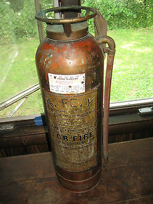 Vintage Brass & Copper Fire Wxtingusher Used by The New York Times