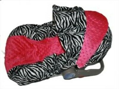 NEW Infant MINKY CAR SEAT COVER-For Graco Evenflo -ZITA