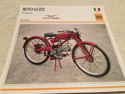 Carte moto collection Atlas motorcycle Moto Guzzi 65 Guzzino 1949 Italie