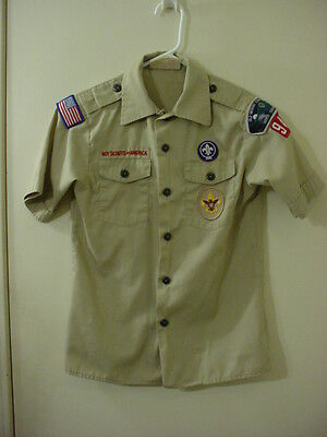 Boy Scouts America Old Hickory Council NC 942 & BSA Patches Shirt Youth M VGC !