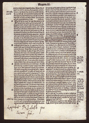 1519 Bible Leaf Old Testament 3rd Book of Kings 22 Contemporary Annotations